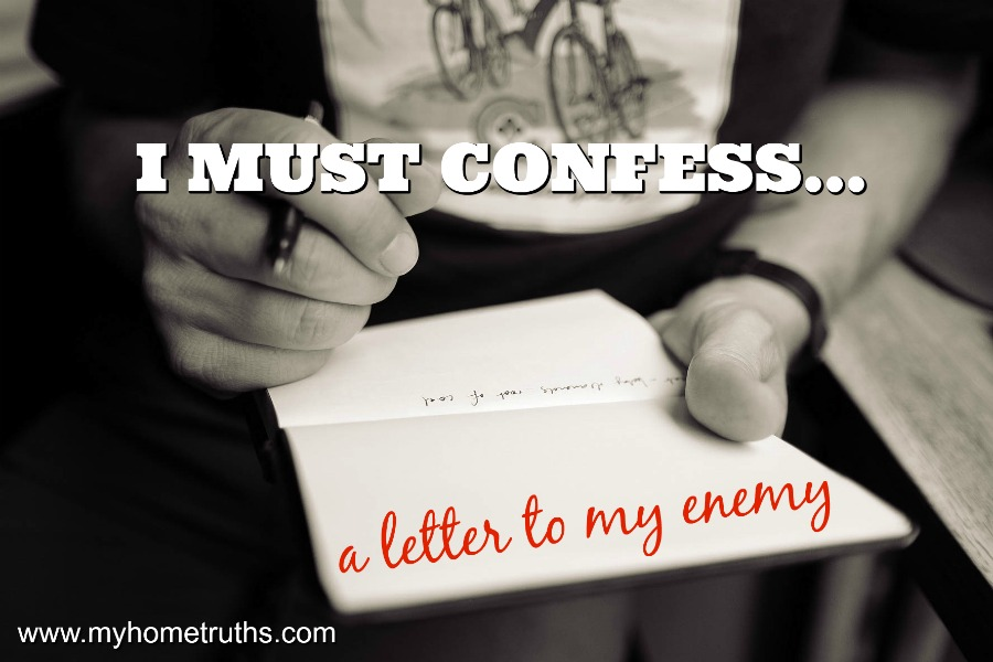 A letter to my enemy